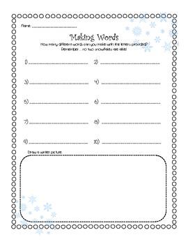 Snowman Themed Literacy Activities