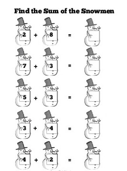 Snowman Themed Morning Work / Bellwork Worksheets