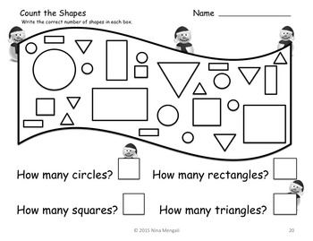 Snowman Themed NO PREP Math Pack - 23 Print and Go Math Activities!!!!
