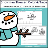 Snowman Themed Number Color and Trace