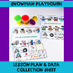 Snowman Themed PUSH-IN Language Lesson Plan Guide