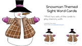 Snowman Themed Sight Word Cards