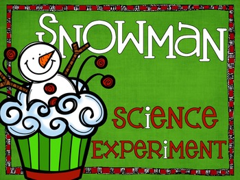 Snowman Themed Winter Snowflake Science Experiment