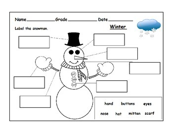 Snowman Themed Worksheets
