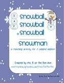 Snowman Three Addend Addition Practice