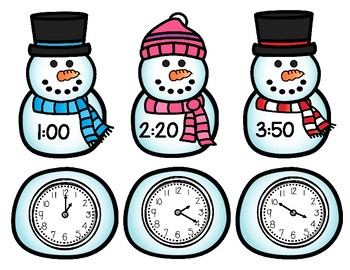 Snowman Time Matching Game