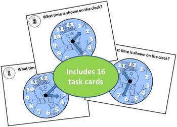 Snowman Time Task Cards - Time to the Minute