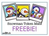 Snowman Token Mats Freebie