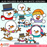 Snowman Toppers Clip Art