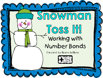 Snowman Toss It! - NUMBER BONDS