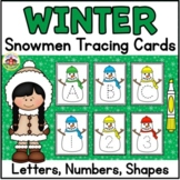 Winter Letter and Number Tracing Cards