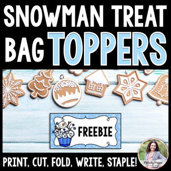 Snowman Treat Bag Toppers