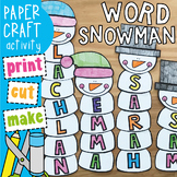 Snowman Name / Word Craft