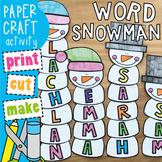 Snowman Name / Word Craft
