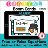 Snowman True or False Equations Boom Cards Distance Learning