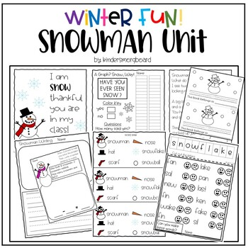 Snowman Unit- Winter Fun Activities
