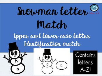 Snowman Upper and Lowercase Letter Match