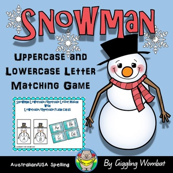 Snowman Uppercase and Lowercase Letter Matching Game
