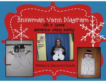 Snowman Venn Diagram and Description Writing Activity!