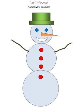 Snowman Version 2 Technology Lesson Plan & Materials