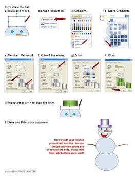 Snowman Version 3 Technology Lesson Plan & Materials