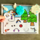 Snowman Vocabulary Folder Game for Early Childhood Special Education