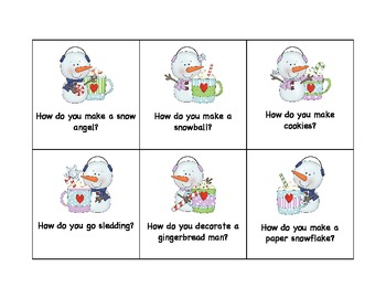 Snowman Why and How Questions