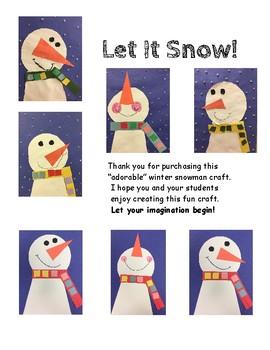 Snowman Winter Art