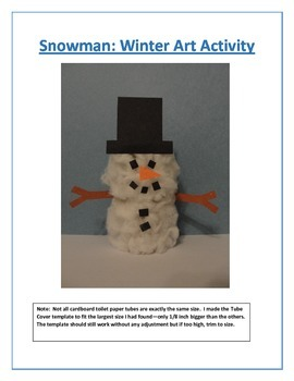 Snowman: Winter Art Activity
