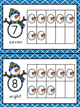 Snowman / Winter Counting Ten Frames - Numbers 1 - 20