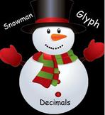 Snowman Winter Decimal Operations Glyph