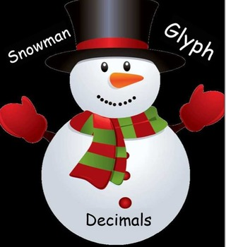 Snowman Winter Decimal Operations Glyph