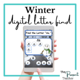 Snowman Winter Find the Letter Distance Learning Activity
