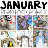 Snowmen & Winter (January) Math and Literacy Centers for Preschool