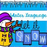 Snowman Winter Language Packet