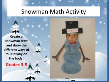 Snowman Winter Math Activtity