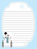 Snowman Winter Note Pad Vista Print Notepad Template