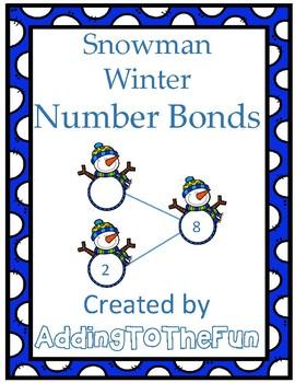 Snowman Winter Number Bond Worksheets