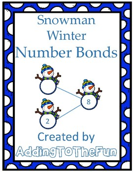 Snowman Winter Number Bond Worksheets