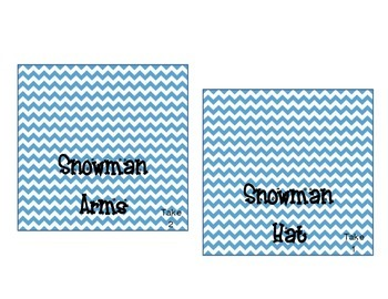 Snowman Winter Party Build a Snowman Bar and Water Bottle Labels