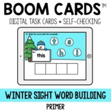 Snowman (Winter) Sight Word Building Primer BOOM CARDS™