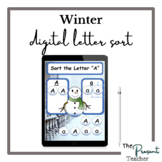 Snowman Winter Sort the Letter Distance Learning Activity
