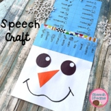 Snowman Winter Speech Therapy Craft {articulation language craftivities}