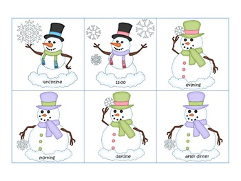 Snowman Winter Wonderland Wh Question Sort-who, what, where, when