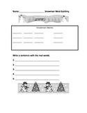 Snowman Word Building Center Idea