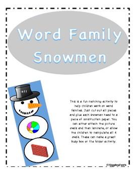 Snowman Word Families
