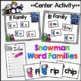 Snowman Word Families Centers {22 Word Families} {Editable}