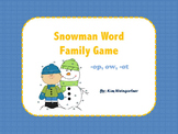 Snowman Word Family Game