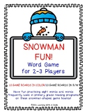 Snowman Word Game ~ Sight Words and More