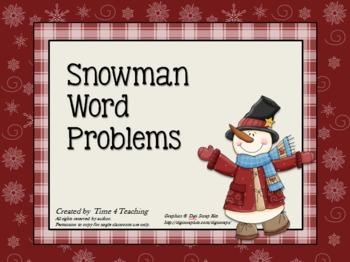 Snowman Word Problems